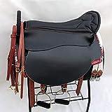 HIGHKAS 2019 High-End Horse Saddle Double Saddle Complete Set Saddle Long Saddle Travel Saddle Parent-Child Saddle Adecuado para Caballos medianos y Grandes