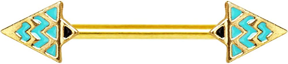 Covet Jewelry Gold Plated Egyptian Triangle Nipple Bar