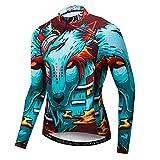 Maillot de ciclismo para hombre, maillot de manga larga para primavera y otoño, tallas S-XXXL, transpirable, de secado rápido y con bolsillo - - M pecho90/96 cm