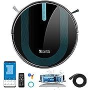 Proscenic 850T WLAN Saugroboter mit Wischfunktion, Staubsauger Roboter, Alexa & Google Home & Appsteuerung, 3000Pa Saugleistung auf Teppichen und Hartböden, Magnetband für Begrenzung