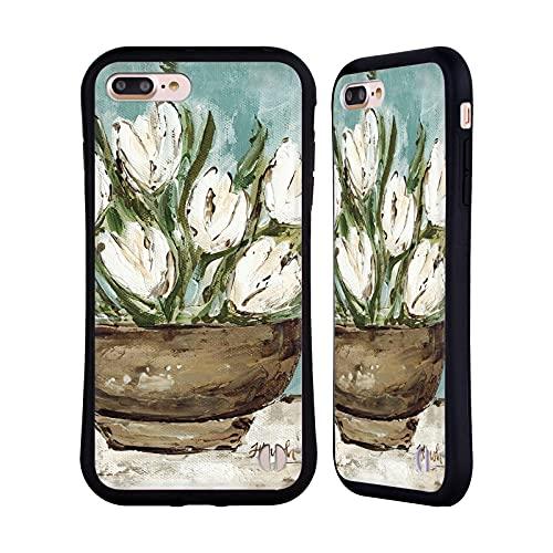 Head Case Designs Licenza Ufficiale Haley Bush Ciotola Tulipani Dipinto Floreale Cover Ibrida Compatibile con Apple iPhone 7 Plus/iPhone 8 Plus