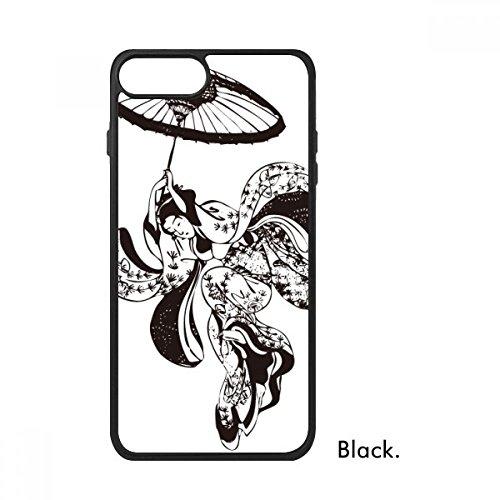 Bestchong Japan Vrouw Paraplu Illustratie Voor iPhone SE 2 nieuw voor Apple 78 Case Cover