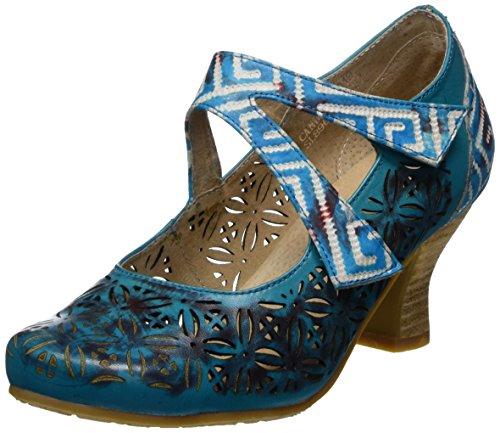 Laura Vita Damen Candice 019 Mary Jane Halbschuhe, Türkis (Turquoise), 40 EU