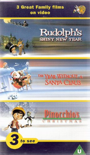 Rudolph's Shiny New Year / The Year without a Santa Claus / Pinocchio's Christmas [VHS]