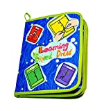 Sunshinetimes Kids Toddler Early Learning Toys Basic Life Skills Learn to Dress Board Book - Zipper, Snap, Button, Buckle, Lace & Tie