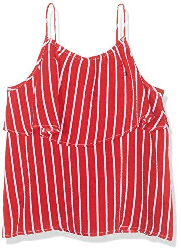 Tommy Hilfiger Dziewczęca bluza z nadrukiem z Fine Stripe Slvls