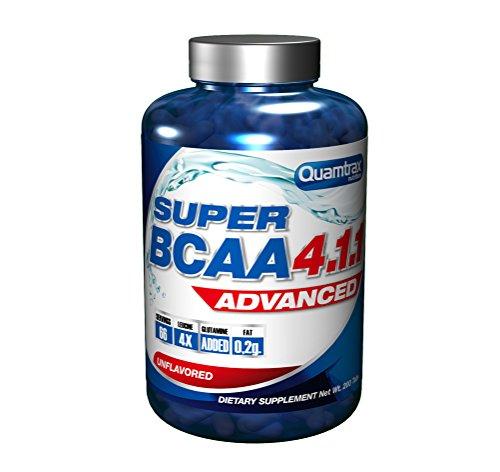 Quamtrax Nutrition Suplemento para Deportistas Super BCAA 4.1.1-200 Cápsulas