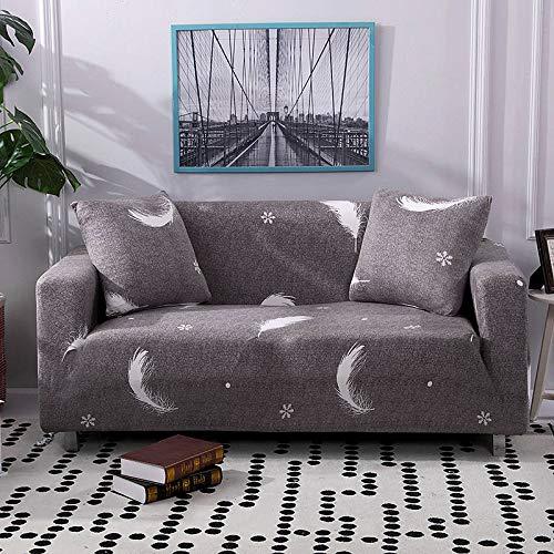 Funda de sofá con diseño Floral Elástico Elástico Universal Sofá Funda seccional Sofá Funda de Esquina para Muebles Sillones A12 2 plazas