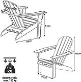 Adirondack-Stuhl aus Akazienholz, Gartenstuhl mit Rückenlehne & Armlehnen - 4