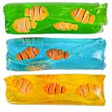 Rhode Island Novelty 4.75 Inch Clown Fish Water Wiggler, One per Order, No Color Choice