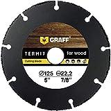 Multi Wheel GRAFF® Termit Disco da Taglio per Smerigliatrice Angolare 125mm, Disco Smerigliatrice Legno, Laminato, Plastica (125 mm)