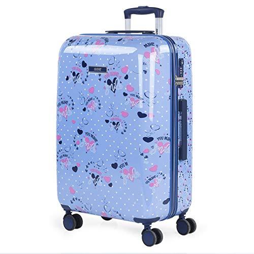 SKPAT - Maleta Mediana Infantil Fabricada con policarbonato, un Material, y Bonito Cierre TSA 131460, Color Azul