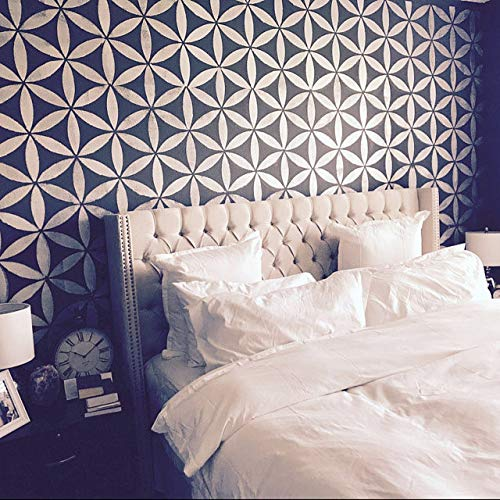 STENCILIT Blume des Lebens Malerschablone - Wandschablone Groß - Wanddekoration Wohnzimmer - Schablone Möbel - Stencil Schablonen Wand