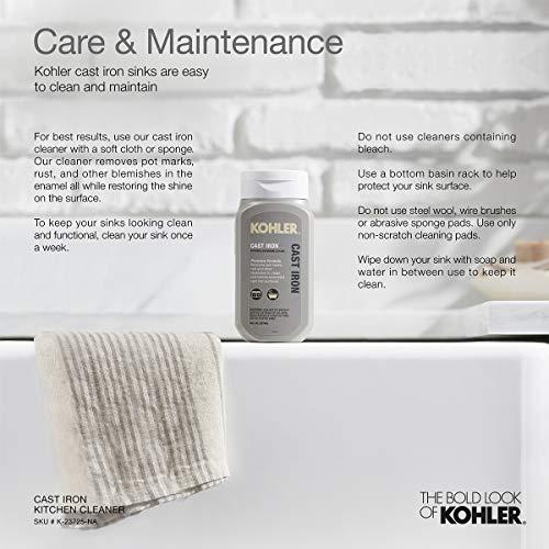 KOHLER K-5872-5UA1-0 Kitchen Sink, One Size, White Kansas