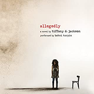 Allegedly audiobook cover art