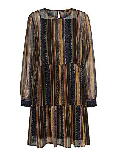 ONLY Damen ONLARLENE L/S Dress WVN Partykleid, Gelb (Golden Yellow Golden Yellow), Medium (Herstellergröße: 38)