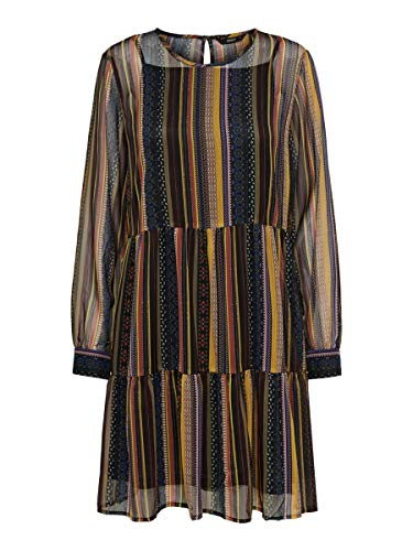 Only Onlarlene L/s Dress Wvn Vestido de Fiesta, Amarillo (Golden Yellow Golden Yellow), Medium (Talla del Fabricante: 38) para Mujer