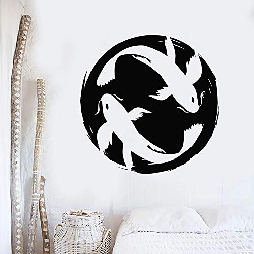 yaonuli Muursticker koi karper paar vis aquarium vinyl sticker slaapkamer badkamer home decoratie behang