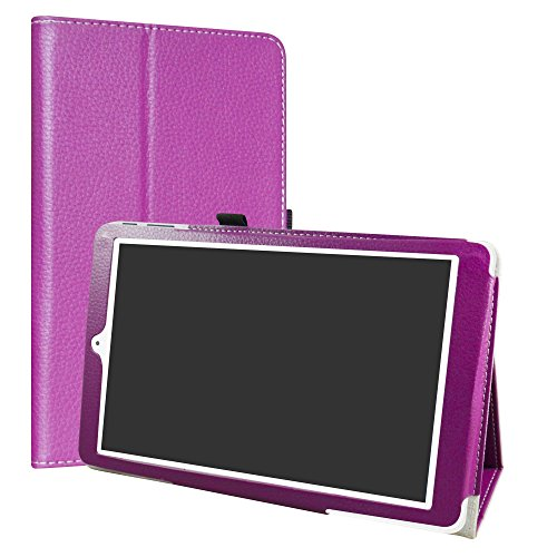 Alcatel OneTouch Pixi 3 10 Funda,LiuShan Folio Soporte PU Cuero con Funda Caso para 10.1' Alcatel OneTouch Pixi 3 10 Android Tablet,Púrpura