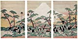 """The artwork """"Daimyô's Procession Passing Mount Fuji (Triptych) """" is done by a prominent artist Utamaro, in full Kitagawa Utamaro, original name Kitagawa Nebsuyoshi, he is known especially for his masterfully composed portraits of sensuous female beau..."""
