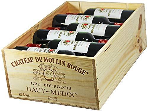 Château du Moulin Rouge 2016 A.O.C. Bordeaux Haut-Médoc Cru Bourgeois Rotwein trocken in OHK (12 x 0,75l)