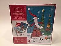 ホールマーククリスマスボックス版カードbx4867雪だるまBirdhouseとサンタツリー2- Designs Assortment