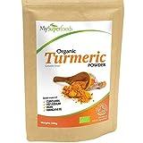 Poudre de Curcuma Bio (500g), MySuperFoods, Concentration élevée en vitamine C, calcium, magnésium, potassium,...