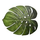 YUnnuopromi - Mantel individual con diseño de hojas de monstera artificiales, antideslizante, para decoración del hogar y la cocina 1#