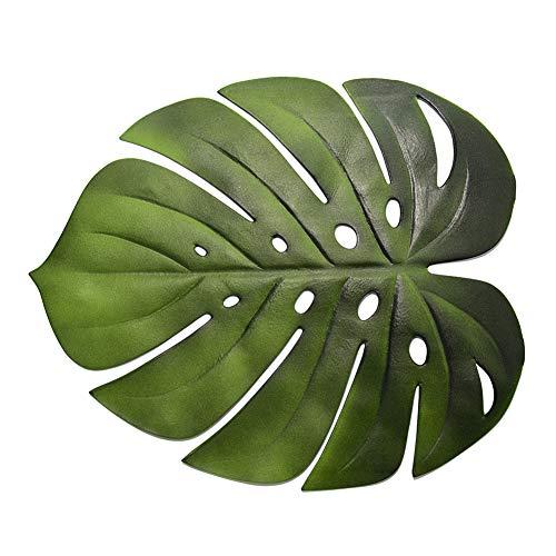 Yunnuopromi - Mantel individual con diseño de hojas de Monstera artificial antideslizante para cocina, decoración del hogar