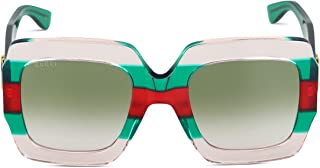 Luxury Fashion | Gucci Womens GG0178S001 Green Sunglasses | Spring Summer 19