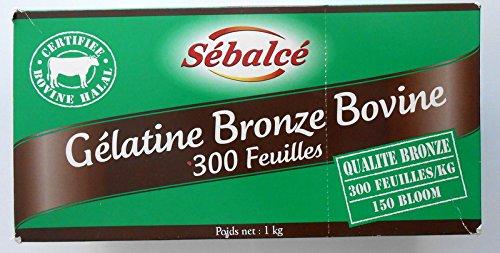 Gélatine Bronze Bovine Certifié HALAL 300 feuilles