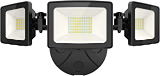 Onforu 50W LED Security Light, 5000LM Super Bright Outdoor Flood Light, 5000K, IP65 Waterproof, 3 Adjustable Heads Flood Light for Garage, Patio, Garden, Porch&Stair