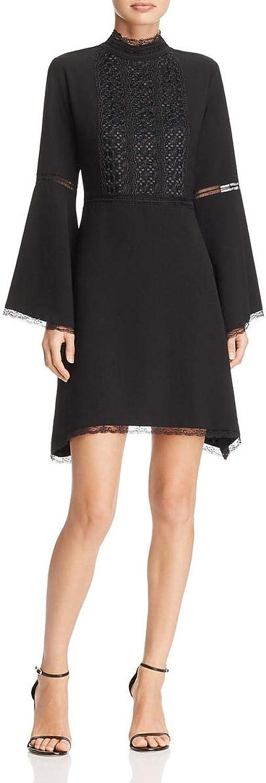 Nanette Nanette Lepore Womens Crepe Bell Sleeve Party Dress