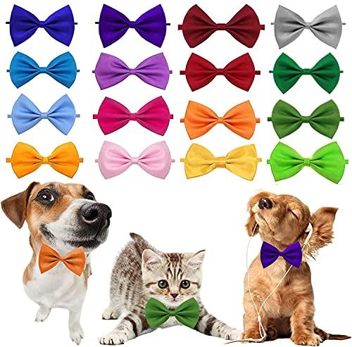 HERYII 16 corbatas ajustables para perros y gatos, para perros y perros, 20 unidades