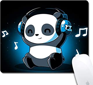 DJ Panda Pattern Mouse Pad - Rolay Up Thick Keyboard Mouse Mat Non-Slip Nature Rubber for Gaming Office Working
