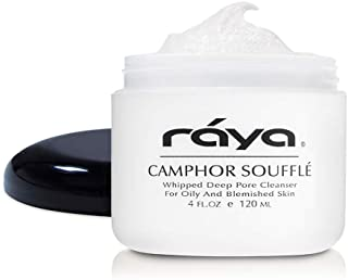 RAYA Camphor Soufflé Facial Cleanser 4 oz (101) | pH-Balanced Face Wash for Oily, Blemished, and Break-Out Skin | Helps Re...