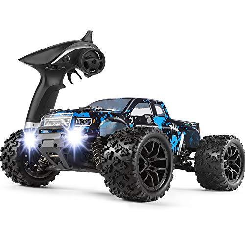 HAIBOXING Ferngesteuertes Auto 1/18 4WD Monster Truck 36 km/h Schnell Geschwindigkeit Wasserdicht 2,4 GHz RC Offroad Elektrofahrzeug RTR mit 7,4 V Batterie für Kinder und Erwachsene