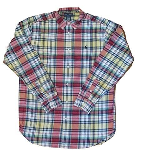 Ralph Lauren Boys Camisa de Cuadros pequeño Pony–tamaño XL (18–20años)