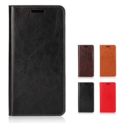 Huawei P10 Lite 手帳型 ケース P10 Lite 本革 手帳型 ケース カード収納あり スタンド機能付き 耐衝撃 全面保護カバー ブラック