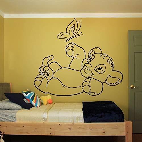 León rey pared calcomanía habitación de niños jardín de infantes dibujos animados vinilo pared pegatina decoración