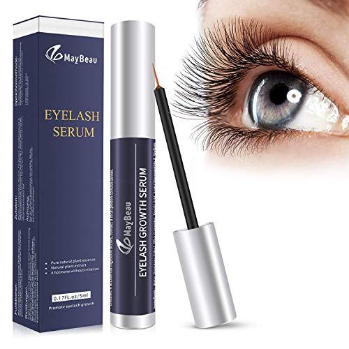 MayBeau Wimpernserum Augenbrauenserum für Stärkeres und Schnelles Wimpernwachstum Wimpern Booster Natürliche Eyelash Growth Serum für Mehr Länge Dichte 5ml
