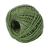 Da.Wa Cuerda de yute de 50 m de grosor, cuerda de cáñamo para floristería, manualidades, decoración de jardín