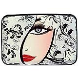 Aluminum Wallet RFID Blocking Slim Metal Business ID Credit Card Holder Hard Case (Beautiful Girl on Floral)