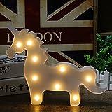 SPECOOL 3D Unicornio LED Lámpara decorativa marquesina signos Carta luz de la noche...