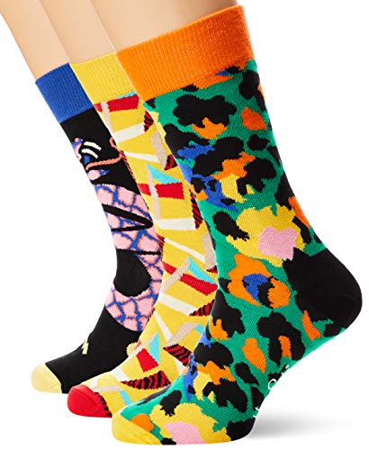 Happy Socks Abstract Animal Gift Box, Mehrfarbig, Size: 36-40