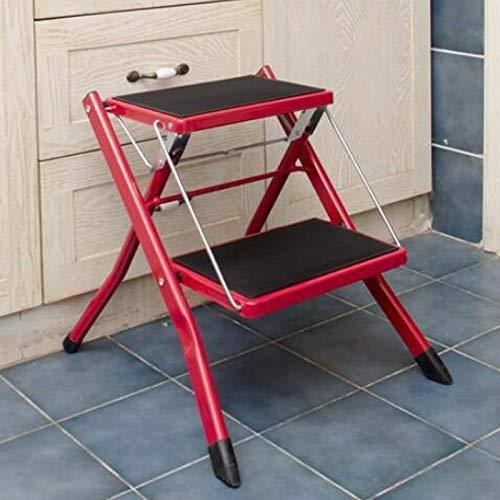 Ccgdgft eenvoudige multifunctionele vouwstoel, huishoudelijke vouwstoel, metalen trapstoel, eenvoudige kinderstoel, drie kleuren stoel, zwart