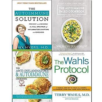 Wahls protocol autoimmune solution paleo cookbook and the anti-inflammatory & autoimmune cookbook 4 books collection set