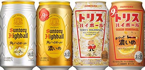 『サントリー ハイボール 4種飲み比べ [ チューハイ 350ml×12本 ]』のトップ画像