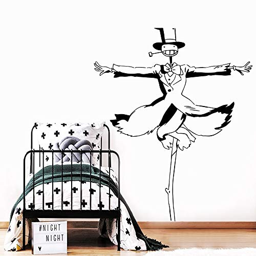 yaofale PVC-Wandaufkleber-Schwarzer Aufkleber Wandtattoo Kunst Vinyl Aufkleber für Kinderzimmer Home Decoration Home Decoration Wohnzimmer Wandbild