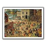 ArtWall Pieter Bruegel 「Children's Games」アンラップキャンバスアート 22 x 28インチ